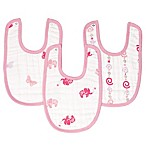 aden® by aden + anais® 3-Pack Girls 'n Swirls Little Bib