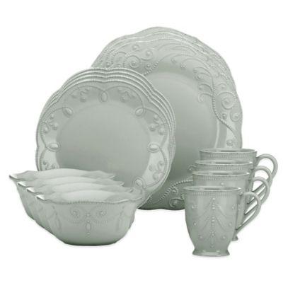 Lenox® French Perle™ 16-Piece Dinnerware Set in Grey  sc 1 st  Bed Bath u0026 Beyond & Buy Lenox Everyday Dinnerware from Bed Bath u0026 Beyond
