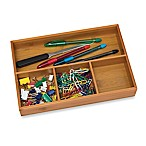 Lipper International 4-Compartment Bamboo Tray
