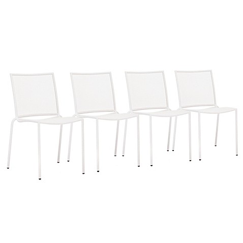 Zuo® Repulse Bay Chairs in White (Set of 4)