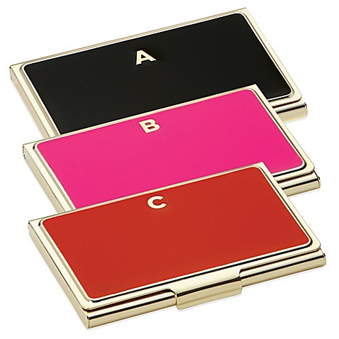 kate spade new york one in a million initial business card holder - Kate Spade Business Card Holder