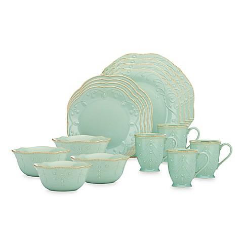 Lenox® French Perle 16-Piece Dinnerware Set in Ice Blue - Bed Bath \u0026 Beyond  sc 1 st  Bed Bath \u0026 Beyond & Lenox® French Perle 16-Piece Dinnerware Set in Ice Blue - Bed Bath ...