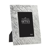 Philip Whitney Alternative Metals 4-Inch x 6-Inch Brushed Aluminum Frame