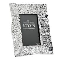 Philip Whitney Alternative Metals 5-Inch x 7-Inch Wrinkle Aluminum Frame