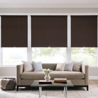 Real Simple® Cordless Cotton Twill Roller 67-Inch x 74-Inch Shade in Coffee