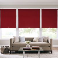 Real Simple® Cordless Cotton Twill Roller 66-Inch x 66-Inch Shade in Crimson