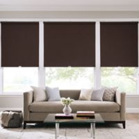 Real Simple® Cordless Faux Silk Roller 65-Inch x 66-Inch Shade in D.Chocolate