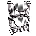Spectrum™ Large Stackable Basket in Bronze