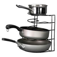 Grayline Pot and Pan Organizer Rack in Black