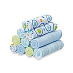 Spasilk® Baby 10-Pack Washcloth Set in Blue Circles