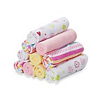 Spasilk® 10-Pack Washcloth Set in Pink Lines