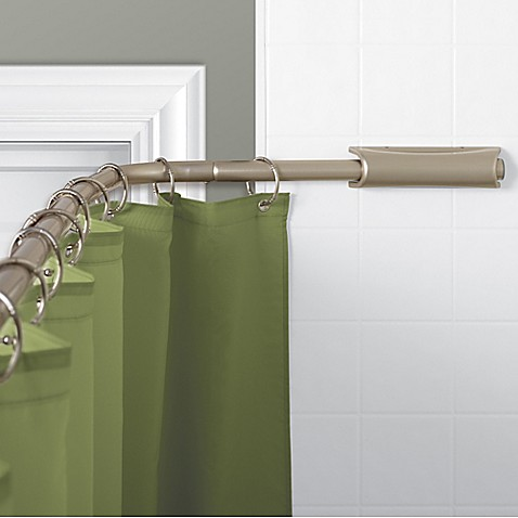 TITAN NeverRust™ Aluminum Curved Retractable Rod In Brushed Nickel