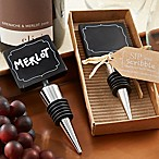 Kate Aspen® Sip & Scribble Chalkboard Bottle Stoppers