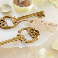 "Kate Aspen® ""Key to My Heart"" Antique Bottle Opener"