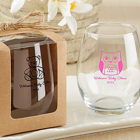 Kate Aspen 174 Kraft Gift Boxes For Stemless Wine Glass Set