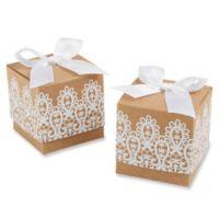 """Kate Aspen® """"Rustic & Lace"""" Kraft Favor Boxes (Set of 24)"""