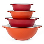 Creo 4-Piece Mixing Bowl Set in Shanghai Red