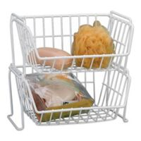 Grayline Small Stacking Basket in White