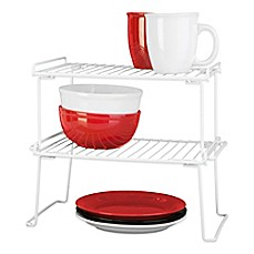 Grayline Folding Stacking Shelf in White