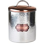 "Global Amici Extra Large ""Cucina"" Hammered Metal Canister"