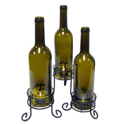 Vinotemp® Wine Bottle Candle Holders (Set of 3)