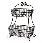 Gourmet Basics by Mikasa® French Countryside 2-Tier Flatback Basket