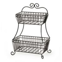 Gourmet Basics By Mikasa French Countryside 2 Tier Flatback Basket