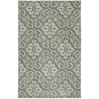 Karastan Euphoria Findon 3-Foot 6-Inch x 5-Foot 6-Inch Area Rug in Bay Blue
