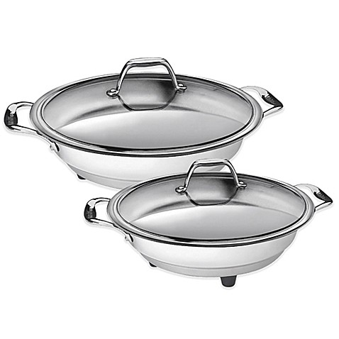 Cucinapro Stainless Steel Interior Electric Skillet Bed