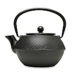 Primula® 36 oz. Hammered Cast Iron Teapot with Infuser in Black