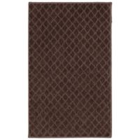 Mohawk Home SmartStrand Diamond 1-Foot 8-Inch x 2-Foot 10-Inch Rug in Chocolate