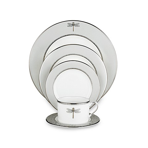 Kate spade new york june lane platinum dinnerware for Bed bath and beyond kate spade