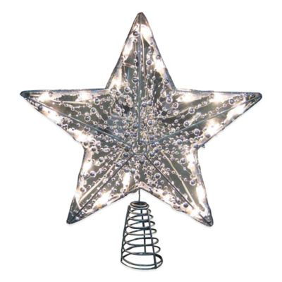 buy lighted star tree topper from bed bath beyond. Black Bedroom Furniture Sets. Home Design Ideas