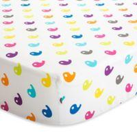 Baby Deedee® Fitted Crib Sheet in Rainbow