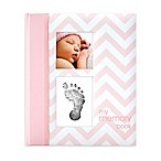 "Pearhead Chevron ""My Record Book"" Baby Book in Pink"
