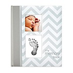 Pearhead Chevron  My Record Book  Baby Book in Grey