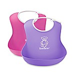 BabyBjörn 2-Pack Soft Bib in Purple/Pink