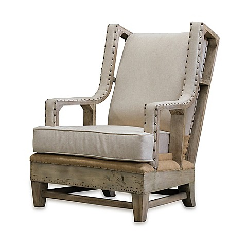 image of Uttermost Schafer Linen Armchair