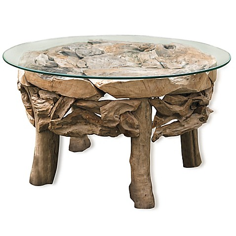 Uttermost Driftwood Glass Top Cocktail Table Www