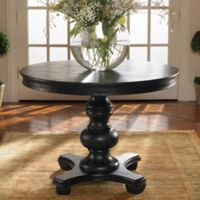 Uttermost Brynmore Wood Grain Round Table in Black