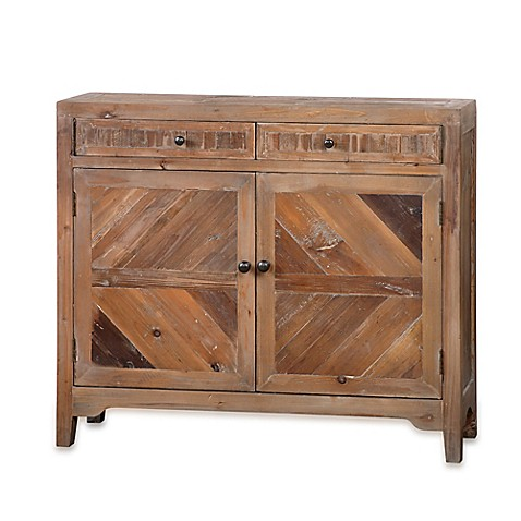 image of Uttermost Hesperos Reclaimed Wood Console Cabinet