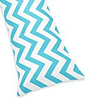 Sweet Jojo Designs Chevron Body Pillowcase in Turquoise and White