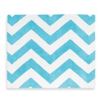 Sweet Jojo Designs Chevron Rug in Turquoise and White