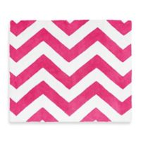 Sweet Jojo Designs Chevron Rug in Pink and White