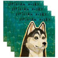 "Thirstystone® ""Siberian Husky"" Coasters (Set of 4)"