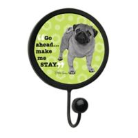 """Thirstystone """"Make Me Stay"""" Leash Hook in Black"""