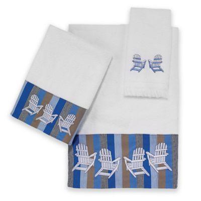 Avanti Beach Scene Fingertip Towel