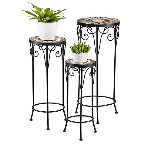 Bombay 174 Daventry Metal Plant Stands Set Of 3 Bed Bath