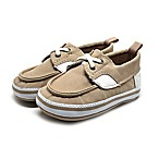 Stepping Stones Size 6-9M Boat Shoe in Tan/Cream