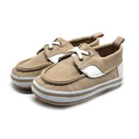 Stepping Stones Size 9-12M Boat Shoe in Tan/Cream